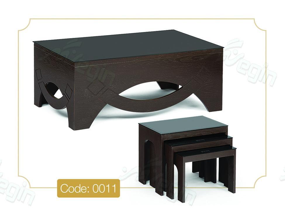 جلو مبلی و عسلی کمانی مدل 0011 صفحه شیشه سکوریت