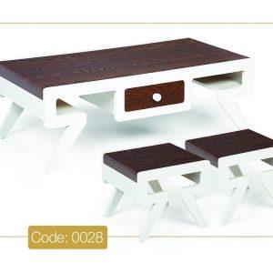 جلو مبلی و عسلی مدل 0028 نگین چوب صفحه MDF وکیوم