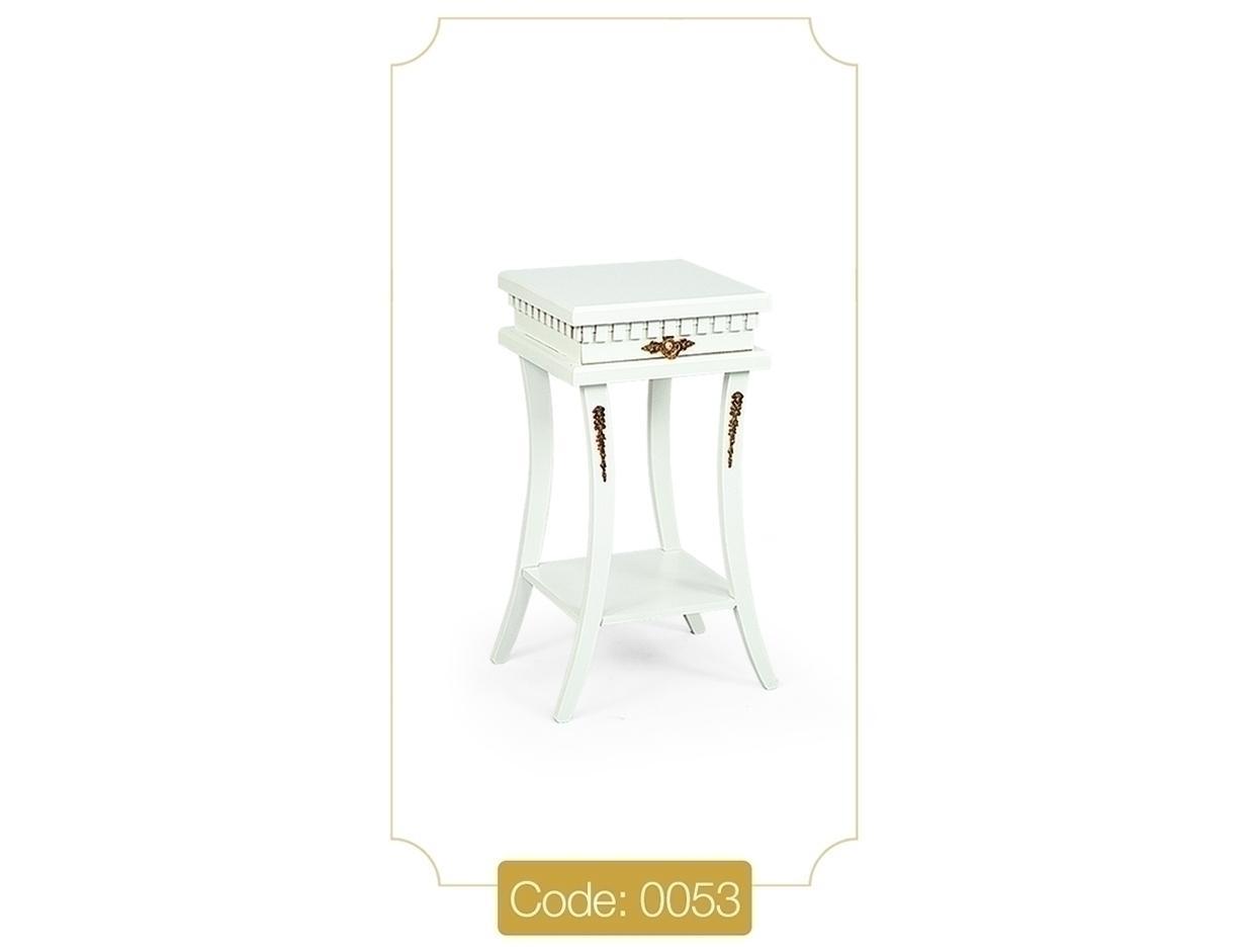 خرید میز تلفن مدل 0053 نگین چوب پایه چوبی