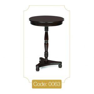 میز تلفن مدل 0063 نگین چوب صفحه MDF پایه چوب تمام رنگی
