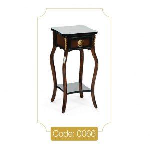 میز تلفن مدل 0066 نگین چوب صفحه MDF پایه چوب تمام رنگی