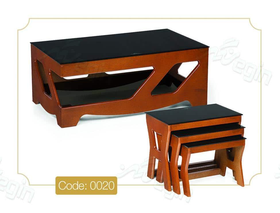 جلو مبلی و عسلی پرستو مدل 0020 صفحه شیشه سکوریت