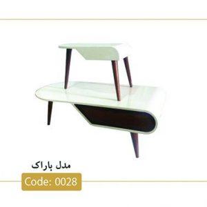 جلومبلی و عسلی باراک مدل 0028 صفحه ام دی اف پایه چوب