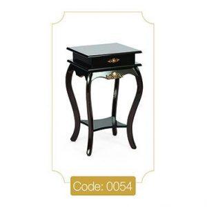 میز گرامافون قهوه ای مدل 0054 صفحه ام دی اف پایه چوب