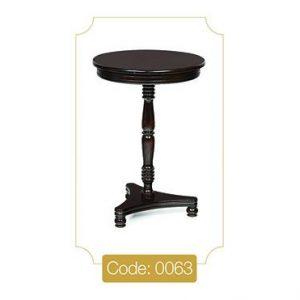 میز خاطره پایه خراطی مدل 0063 صفحه ام دی اف پایه چوب