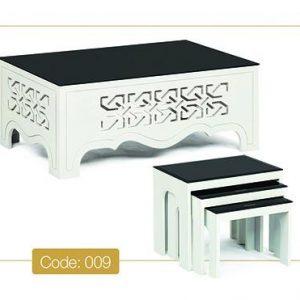 جلو مبلی و عسلی اسلیمی مدل 009 صفحه شیشه سکوریت