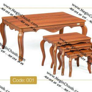 میز جلو مبلی و عسلی ونیز نگین چوب