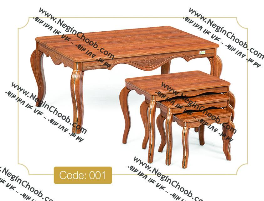 میز جلو مبلی و عسلی نگین چوب
