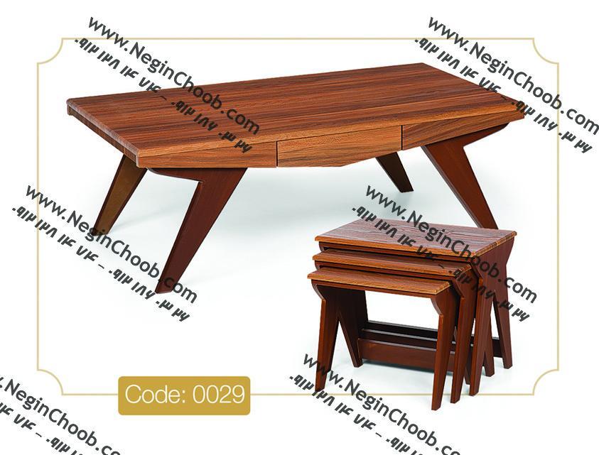 جلومبلی سون مدل 0029 نگین چوب صفحه و پایه MDF رنگی