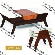 خرید میز جلو مبلی نگین چوب مدرن و ارزان و باکیفیت بالا
