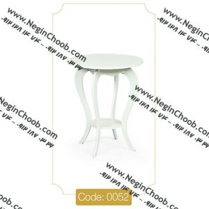 میز خاطره ام دی اف مدل 0052 نگین چوب صفحه و پایه MDF تمام رنگی