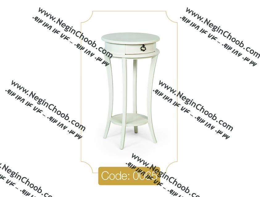 قیمت میز تلفن سفید جدید تک کشو گرد
