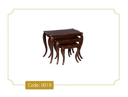 میز عسلی پیچک کد 0019 صفحه ام دی اف وکیوم پایه پلیمری