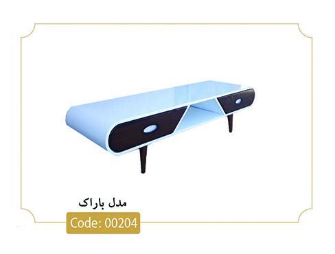 میز تلویزیون باراک مدل 00204 تمام ام دی اف پایه پلیمری