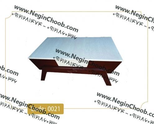 خرید میز جلو مبلی تک اینترنتی مدل قایقی سفید