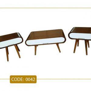 جلو مبلی و عسلی روژا مدل 0042 صفحه MDF پایه چوب
