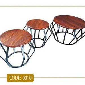 جلو مبلی و عسلی وینا مدل 0010 صفحه ام دی اف وکیوم پایه فلزی