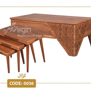 جلو مبلی و عسلی کژال مدل 0036 صفحه MDF وکیوم پایه پلیمری