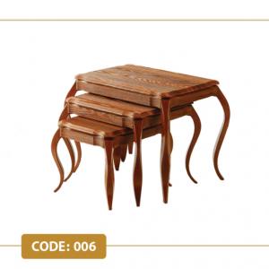 میز عسلی موج کد 006 صفحه ام دی اف وکیوم پایه پلیمری