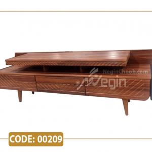 میز تلویزیون آمتیس مدل 00209 ام دی اف وکیوم پایه پلیمری