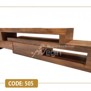 میز تلویزیون مدل 505 بدنه ام دی اف وکیوم پایه چوب