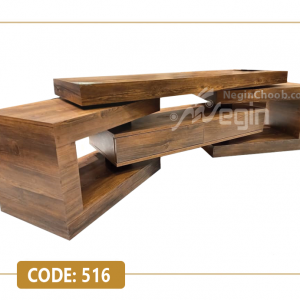 میز تلویزیون مدل 516 بدنه ام دی اف وکیوم پایه چوب