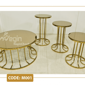 میز جلومبلی پایه فلزی ستونی