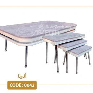 جلومبلی و عسلی آلبرتا کد 0042 ام دی اف وکیوم پایه فلزی سری ممتاز