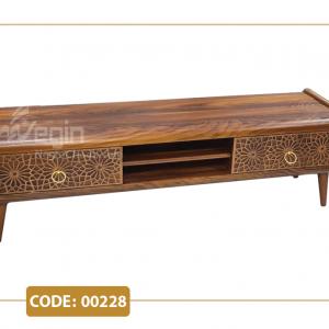 میز تلویزیون لوکا مدل 00228 ام دی اف وکیوم پایه پلیمری