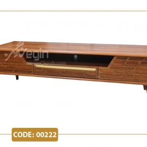 میز تلویزیون لارن مدل 00222 صفحه MDF وکیوم پایه پلیمری
