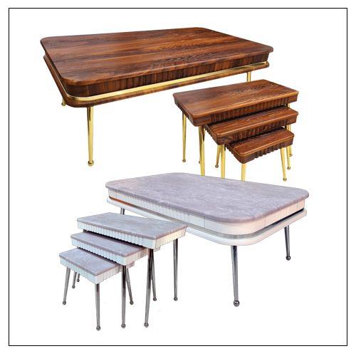 خرید میز جلومبلی آلبرتا ام دی اف وکیوم پایه فلزی