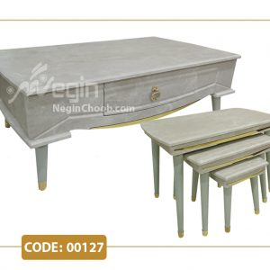 جلومبلی و عسلی مدل 00127 صفحه MDF وکیوم پایه پلیمری (ABS)