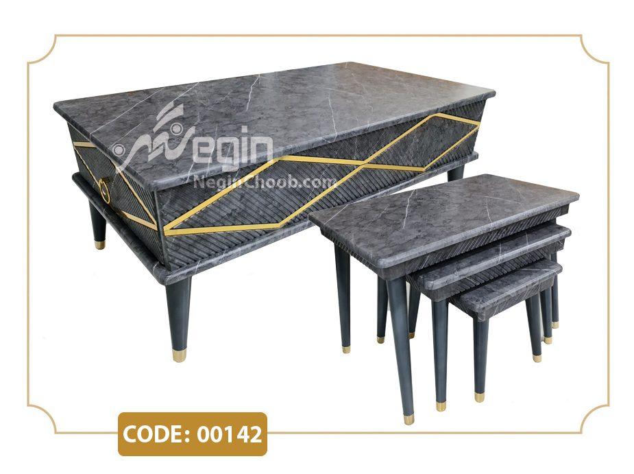 فروش عمده میز جلو مبلی و عسلی ارزان قیمت جلومبلی و عسلی مدل 00142 صفحه MDF وکیوم پایه پلیمری (ABS)