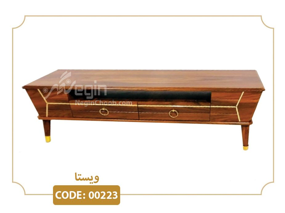 میز تلویزیون ویستا مدل 00223 بدنه MDF وکیوم پایه پلیمری (ABS)